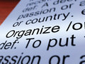 Organize Definition Closeup Showing Managing Royalty Free Stock Image