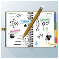 Organize notebook science and education infographic design templ background template Stock Photos