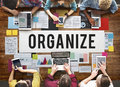 Organize Notice Project Schdule Style Vision Concept Royalty Free Stock Photo