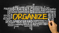 Organize with related business word cloud Royalty Free Stock Photo