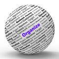 Organize sphere definition shows structured files organized or management Royalty Free Stock Photos