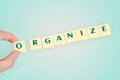 Organize word Royalty Free Stock Photo