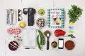 Title: Organized objects of a foodie girl.