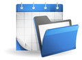 Organizer icon set of with folder Royalty Free Stock Photos