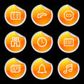 Organizer icons Royalty Free Stock Photo