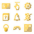 Organizer icons Royalty Free Stock Photography