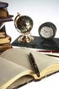 Organizer, pen, books Royalty Free Stock Photo