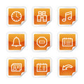 Organizer web icons Stock Photography