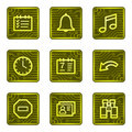 Organizer web icons, electronics card series Stock Photo