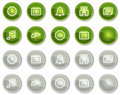 Organizer web icons, green and grey circle buttons Royalty Free Stock Photos
