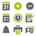 Icono verde gris sólido icono