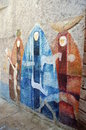 ORGOSOLO ITALY 4 October 2015 Murales in Orgosolo Italy Since about 1969 the wall paintings reflect different aspects of Sardinia