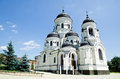 Orhodox church in moldova beautiful orthodox cathedral on sunny day Royalty Free Stock Photo
