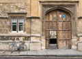 Oriel entrance to college university of oxford england Royalty Free Stock Photography