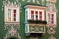 Oriel Window in Scharding, Austria Royalty Free Stock Photo