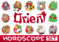 Orient horoscope set