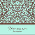 Orient lace card vector decor Stock Photos