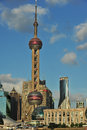 Orient tv tower in shanghai in summer Stock Photography