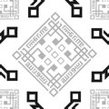 Oriental, Arabic, Islamic, Ornament, Black and White BW Transparent Seamless Vector Pattern Tile Texture Background.