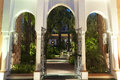 Oriental archway to a privat garden Royalty Free Stock Photography