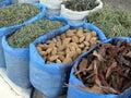 Oriental bazaar foods - herbs Royalty Free Stock Photo