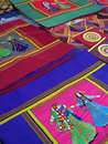 Oriental bazaar objects - ketene fabrics Royalty Free Stock Photo