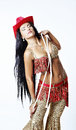 Oriental beauty beautiful woman in clothes Stock Image