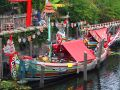 Oriental boats Stock Photography