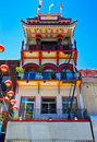 Oriental building in Chinatown, San Francisco Royalty Free Stock Photo