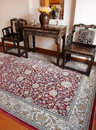 Oriental carpet & Ethnic peranakan decor Stock Photography