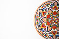 Oriental ceramic plate with beautiful colorful ornament