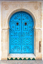 Oriental door a beautiful in the medina of hammamet Stock Photos
