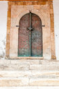 Oriental door in the medina of sidi bou said Stock Image