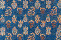 Oriental fabric texture background blue dappled with pattern as a Royalty Free Stock Image