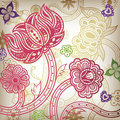 Oriental Floral Abstract
