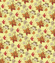 Oriental Floral Pattern with Birds Stock Photos