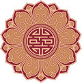 Oriental Flower Swastika Composition Stock Photos