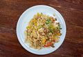 Oriental fried rice tyahan meat and oyster sauce chinese cuisine Stock Image