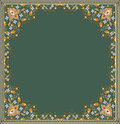 Oriental garnished frame in editable vector design Royalty Free Stock Photo