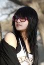 An Oriental girl Stock Photos