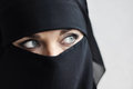 Oriental girl portrait of woman in a chador Stock Image