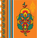 Oriental - Indian - Floral Design Elements Royalty Free Stock Images
