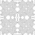 Oriental kaleidoscope fractal. Abstract black and white pattern. Vector.
