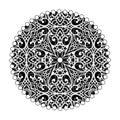 Oriental mandala design. Vintage ornament. Tribal Layout. Islam,