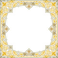 Oriental ornament square border frame Royalty Free Stock Images
