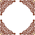 Oriental ornament square border frame Royalty Free Stock Photography