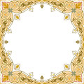 Oriental ornament square border frame Stock Photography