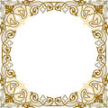 Oriental ornament square border frame Royalty Free Stock Photo