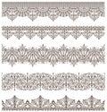 Oriental ornaments vintage design elements Antique Victorian lace borders the Arabian ornaments and curls