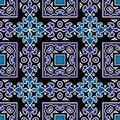 Oriental pattern beautiful seamless blue background with Stock Photos